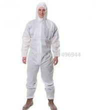 Предметы безопасности рабочей одежды комбинезон Наборы для ухода за кожей защитная одежда предотвратить твердых примесей анти-жидкость 4515 белый Водонепроницаемый дышащая