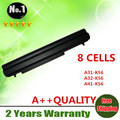 8cells laptop battery  FOR asus A46 A56 K56  Ultrabook V550 E46 U48 U58 K46C S40 S46 R405  A31-K56 A32-K56 A41-K56 A42-K56