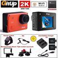 Frete grátis! 2 k wifi gitup git2 pro carro sports action camera + controle + mic + carregador de bateria kits
