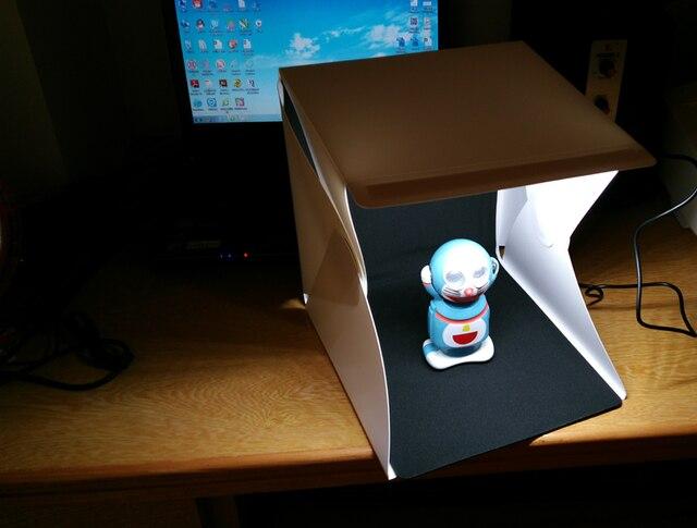Photographie portable mini studio doux boîte à lumière intégré led