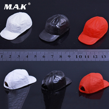 цены Hot Toys 1:6 Scale White/ red/black fashion hat for woman girl Rubber cap Fit 12