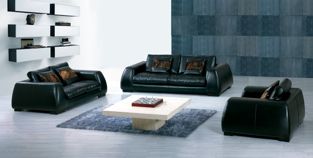 Hot Sale Modern Chesterfield Genuine Leather Living Room Sofa Set Furniture  Feather Sofa With Cushion Shipping