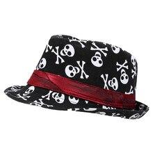 IMC Kids bebé Niños Niñas Cap sombrero fedora-negro con patrón de cráneo 6ec741d417d