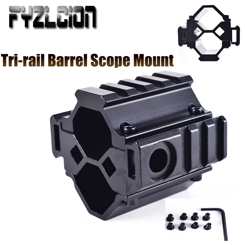 Tri rail Barrel Scope Mount Bipod Mount Adapter for Mossberg 500 Remington 870 12Ga Shot Gun-in Hunting Gun Accessories from Sports & Entertainment