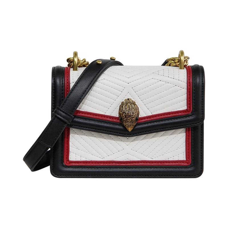 Bags For Women 2018 Chains Diamonds Panelled Handbags Lady PU Leather Flap Woman Handbag Messenger Bags сумка handbags for women pu versatile handbag