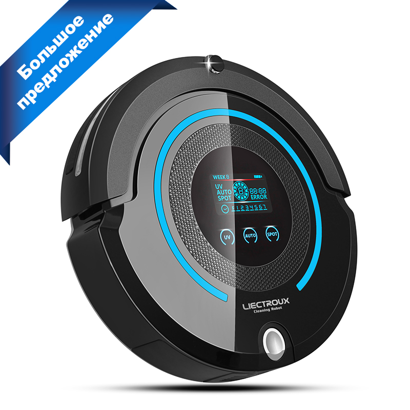 (Russia Warehouse) LIECTROUX A338 Robot Vacuum Cleaner(Sweep,Vacuum,Mop,Sterilize),Schedule,Virtual Blocker,Self Charge