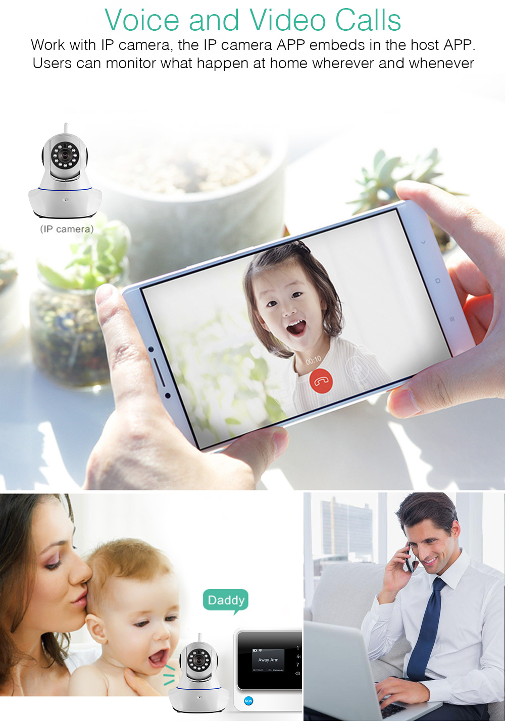 Towode G90B GSM WIFI Remote Control Smart Home Security with Workable with RFID Wireless Keypad 14