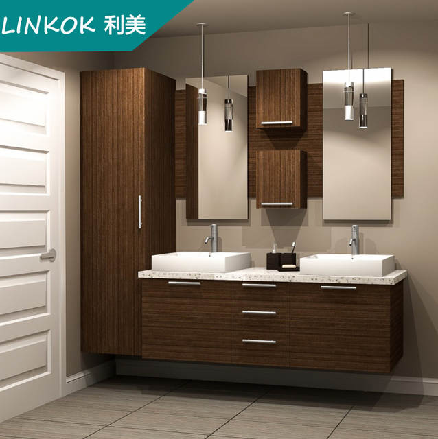 Linkok Furniture 72 China Custom Sliver Mirror Custom Mdf Modern Floor Standing Bathroom Mirror Cabinet