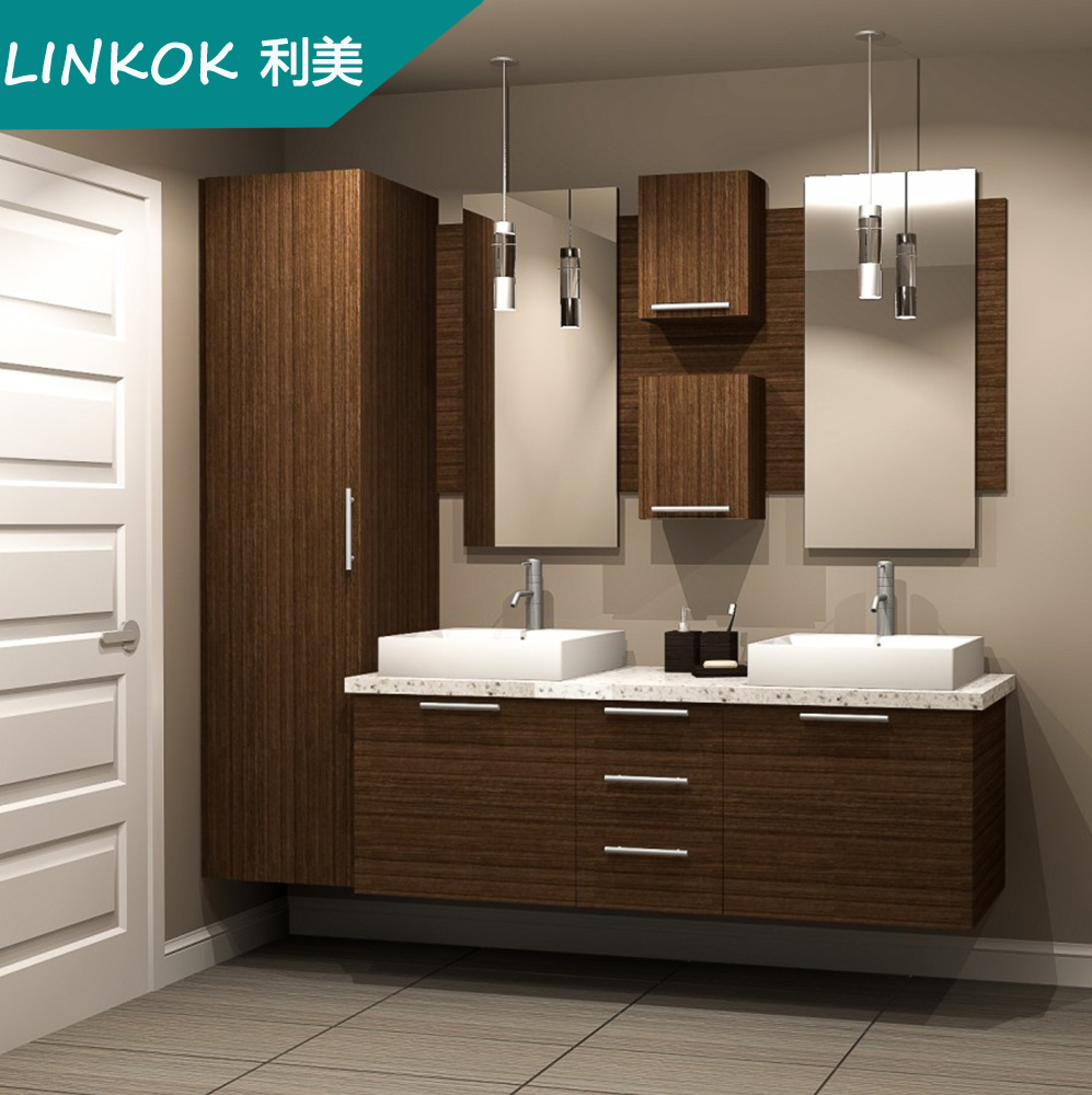 Linkok Furniture 72 China Custom Sliver Mirror Custom Mdf Modern Floor Standing Bathroom Mirror Cabinet