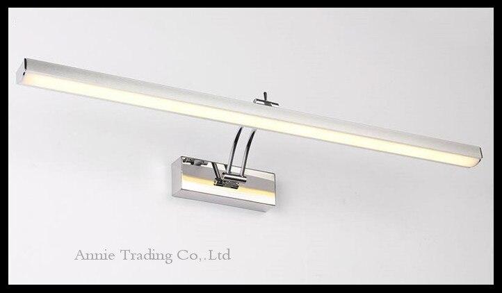 moderne en acier inoxydable led cabinet miroir lumire l40506070 cm 781012 w salle de bains douche vanit coiffeuse lampe - Hauteur Vanite Salle De Bain