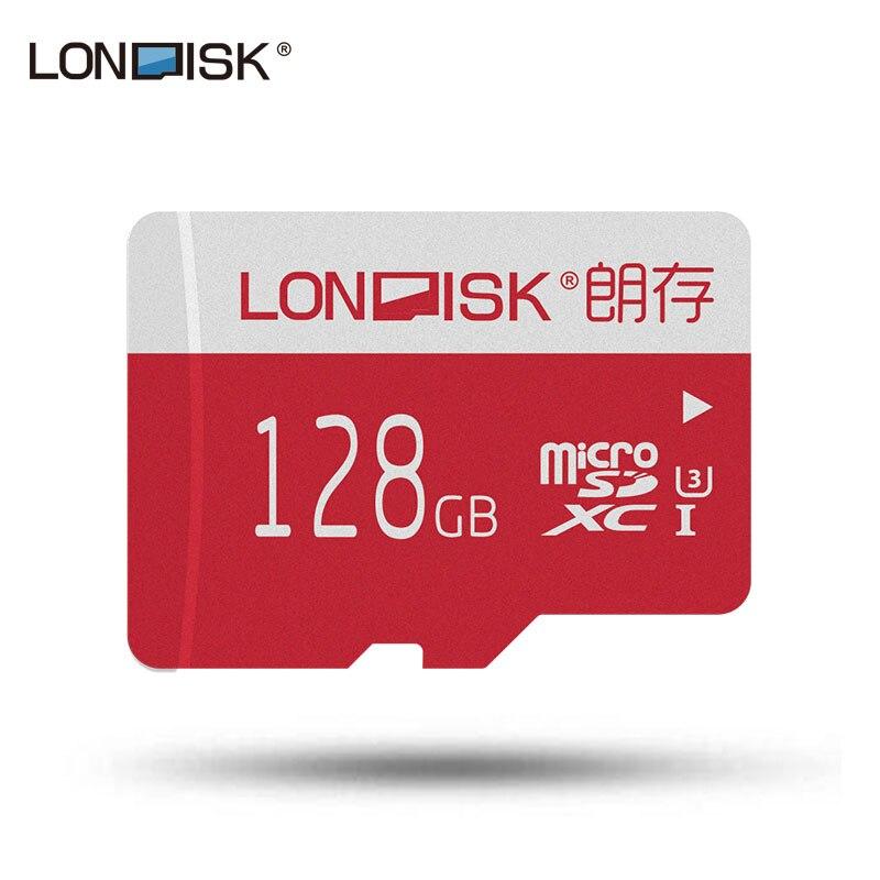 Londisk Micro SD 128 gb Classe 10 Scheda di Memoria SDXC UHS-3 Microsd Carta di TF Per Il Telefono Della Macchina Fotografica Pad