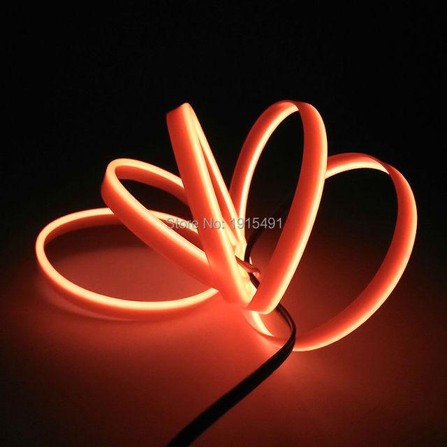 2meters flexible neon led strip lights orange 23mm skirt el wire 2meters flexible neon led strip lights orange 23mm skirt el wire rope tube with 12v aloadofball Gallery