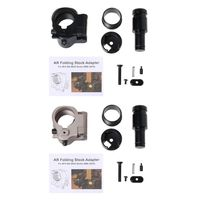 1 Set Folding Stock Adapter Aluminum Alloy Tactical Airsoft Tackle Fixing Screw Bolt AR Hunting Accessories