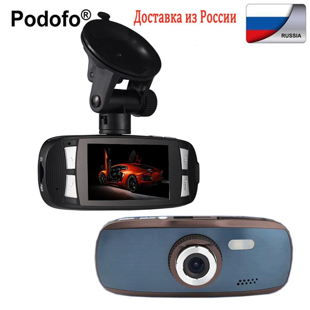 Podofo Car DVR Original Dash Cam Novatek 96650 2.7LCD Car Camera Video Recorder GS108 with WDR FHD G-Sensor Dashcam DVRs G1W цена
