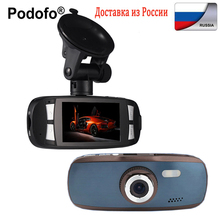 Podofo Car DVR Original Dash Cam Novatek 96650 2.7″LCD Car Camera Video Recorder GS108 with WDR FHD G-Sensor Dashcam DVRs G1W