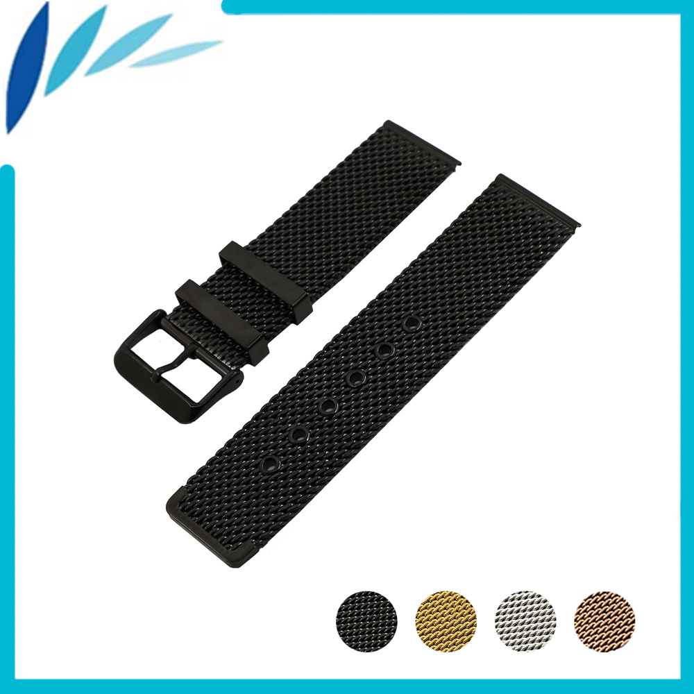 Stainless Steel Watch Band 24mm for Suunto TRAVERSE Pin Clasp Strap Wrist Loop Belt Bracelet Black Silver + Spring Bar + Tool stainless steel watch band 22mm 24mm for breitling butterfly buckle strap wrist belt bracelet black silver spring bar tool