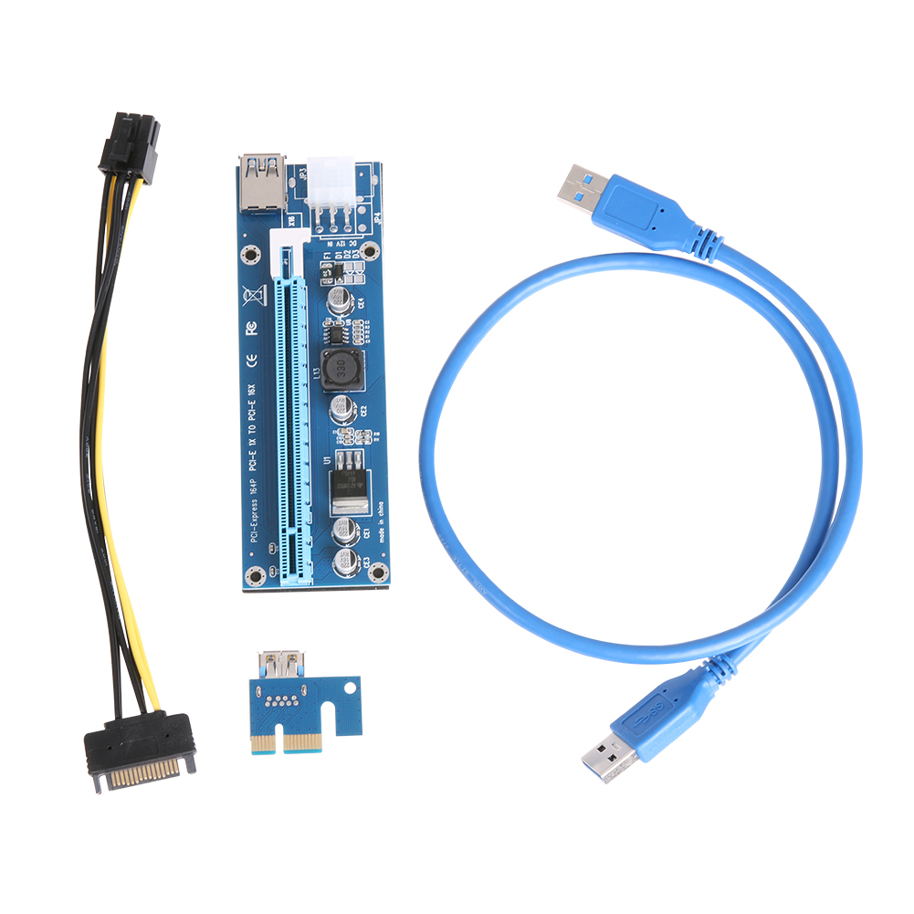 Upgraded Version PCI-E Express 1X to 16X Extender Riser Card Adapter SATA 15Pin Male to 6Pin Power Line USB 3.0 Cable for Mining gcr15 6326 zz or 6326 2rs 130x280x58mm high precision deep groove ball bearings abec 1 p0