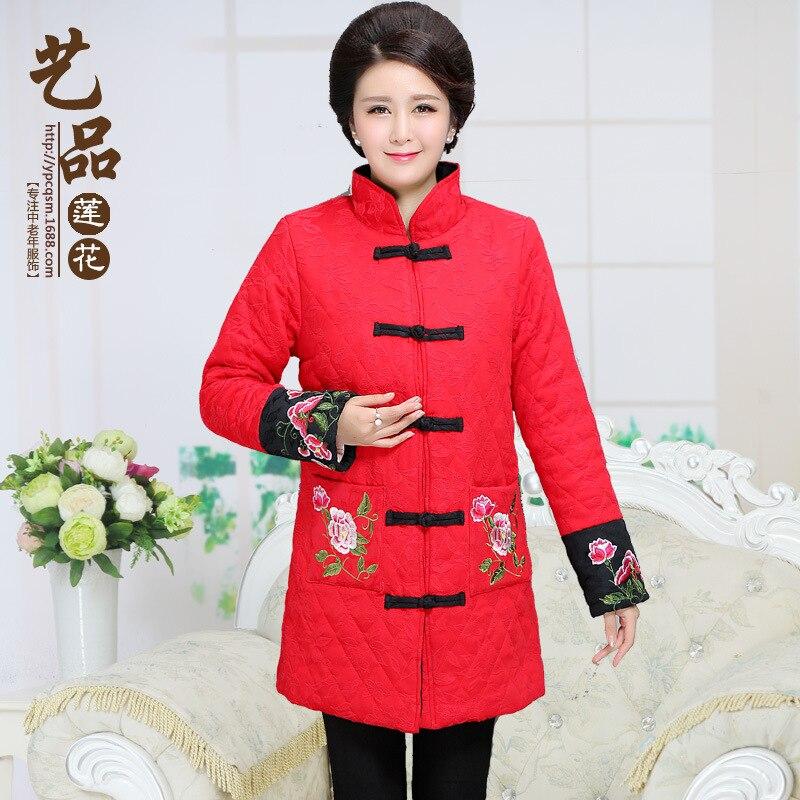 2016chinese winter women coat jacket parka long plus size elegant fur chaqueta mujer manteau abrigos mujer
