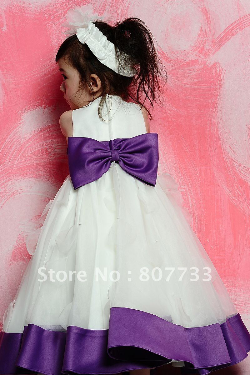 Cheap price hot sale sweet purple and white latest dress designs for cheap price hot sale sweet purple and white latest dress designs for flower girl dress in flower girl dresses from weddings events on aliexpress mightylinksfo