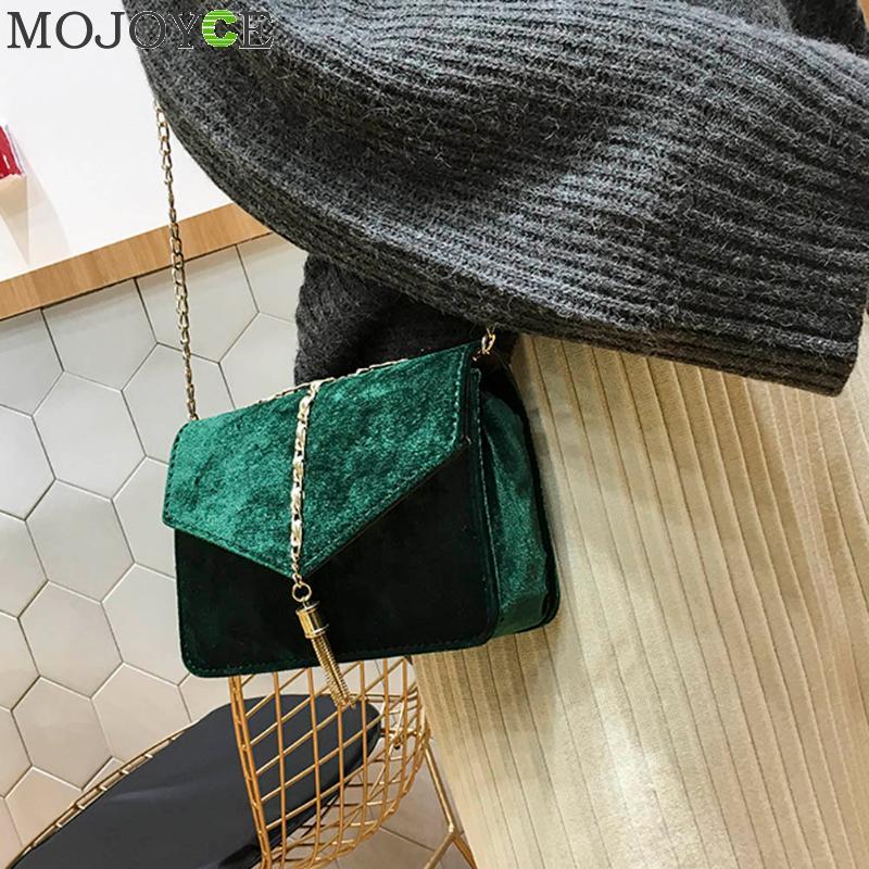 c17c440b63ce Retro Gold Velvet Crossbody Bag Women Elegant Long Chain Shoulder Bag  Autumn Winter Messenger Bags Female Tote Vintage Handbags-in Top-Handle Bags  from ...