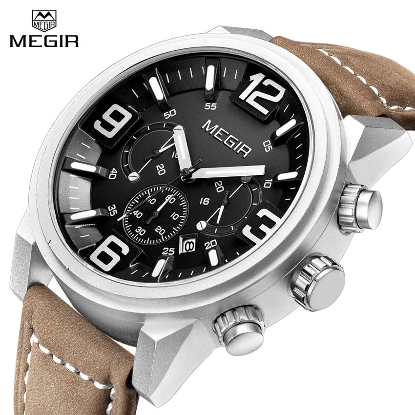 Men Quartz Watch Luminous Waterproof Casual Sport Chronograph Clock Male Wristwatches Luxury Brand Megir Wrist Watches Relojes все цены