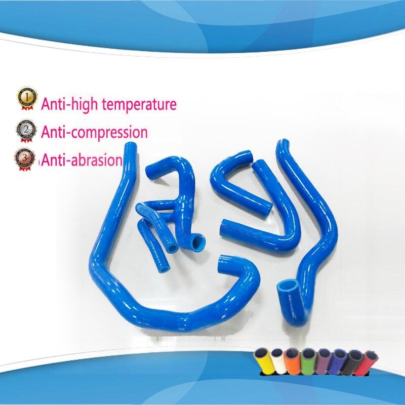 цена на 5 pcs Silicone Turbo Boost Hose Kit for PEUGEOT 106 GT1 16V Citroen SAXO VIS 16V Blue red balck