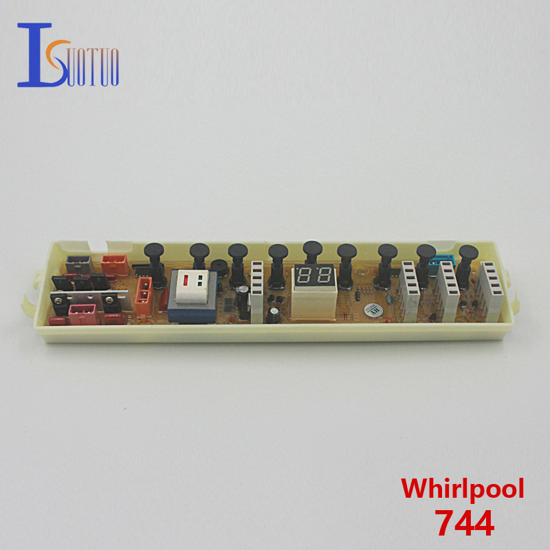 Whirlpool washing machine computer board 744 brand new spot commodity wire universal board computer board six lines 0040400256 0040400257 used disassemble