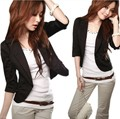 Zala Women's Sexy Black One Button Small Suit Jacket women coat blazer US Size Free ShippingQW4086