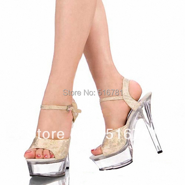 elegant sexy 15cm sexy high heel shoes sandals pole dance. Black Bedroom Furniture Sets. Home Design Ideas