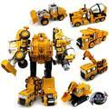 BOHS Genuino de Metal de Aleación de Vehículo de la Ingeniería Hércules Niño Deformación Niños Transformación Robots Juguetes de Camiones