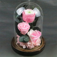 Preserved Immortal Flower Pink Forever Rose Flower Festive Unique Gifts Centerpiece Wedding Decorations