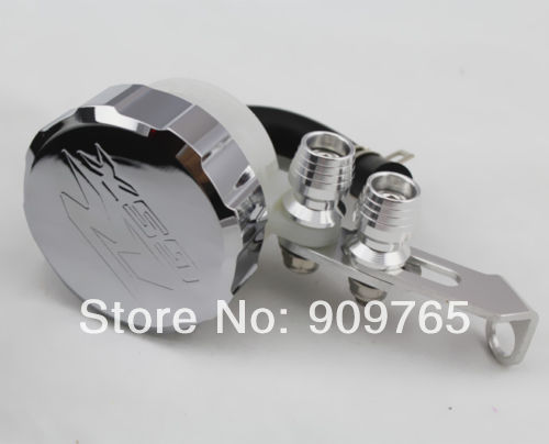 Chrome Front Brake Fluid Cap Reservoir w/ Gas Tank For Suzuki Gsxr 600 750 1000 aftermarket free shipping motor parts for motorcycle 1989 2007 suzuki katana 600 750 billet oil brake fluid reservoir cap chrome