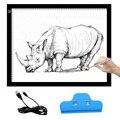 A3 Portátil LED Tablero de Dibujo de La Vista-protegido Táctil Regulable Tracing Tabla Cojín de la Caja de Luz con Clip de Animación 2D dibujar