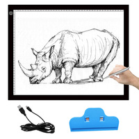 Portable LED Drawing Board Eyesight Protected Touch Dimmable Light Pad With Clip For 2D Animation Sketching