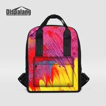 Dispalang красочные женщины рюкзак леди граффити печати ноутбук рюкзак женская повседневная дорожная сумка рюкзак Mochila Feminina