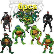 High Quality 12cm las tortugas ninja Tortuninjas TMNT Teenage Mutant Ninja Turtles Action Figure Dolls 6 pcs/lot