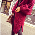 2016 long autumn cardigan women sweaters loose jumper women cardigan basic coats sweater oversized sweater knitted cardigan 025