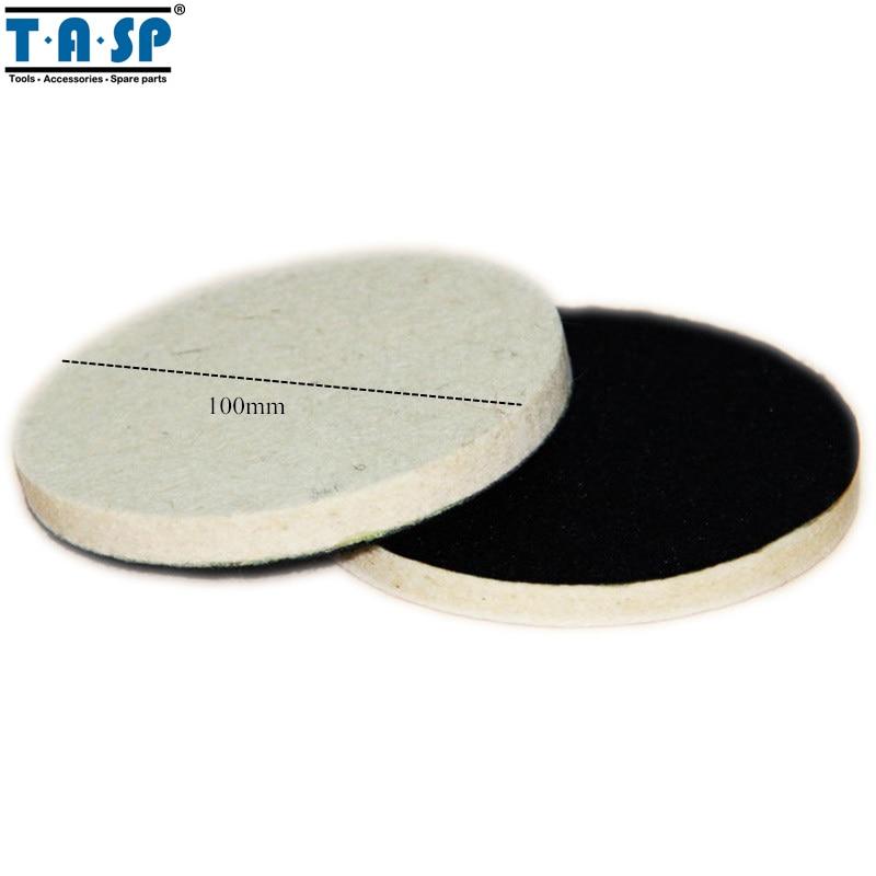 TASP 100mm Wool Polishing Buffing Pad for Car Glass Polising spta 4 100mm genuine wool buffing ball polishing pad ball hex shank turn power drill or impact driver high speed polisher