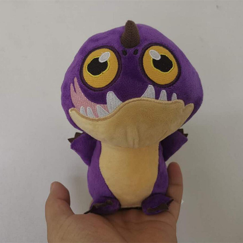 2019 new 18cm  How to Train Your Dragon 3 Plush Toy Purple dragon Light Fury Soft White Stuffed Doll