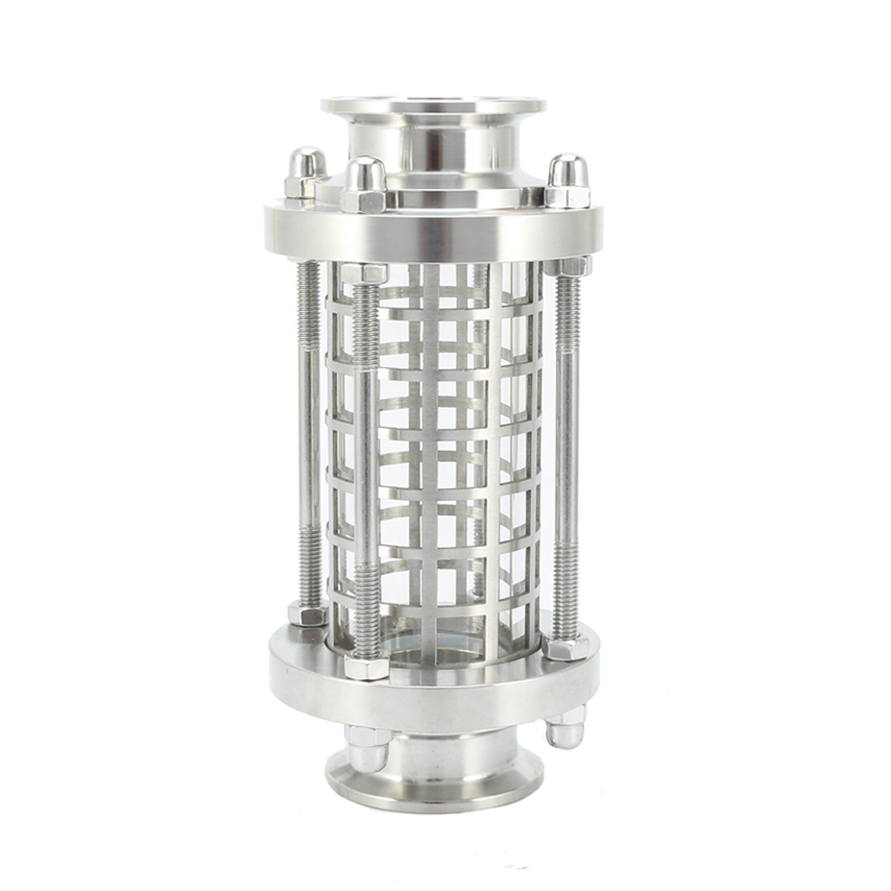 "With Grid Cover Fit 25/32/38/51mm Tube OD X 1.5"" 2"" Tri Clamp Homebrew Sanitary Diopter Flow Sight Glass SUS304"