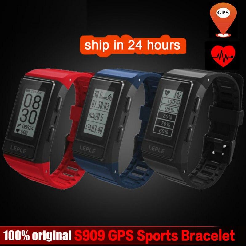 DoubleX S909 GPS Tracker Bande À Puce Moniteur de Fréquence Cardiaque Fitness Tracker IP68 Étanche Bracelets En Plein Air Affichage Écran