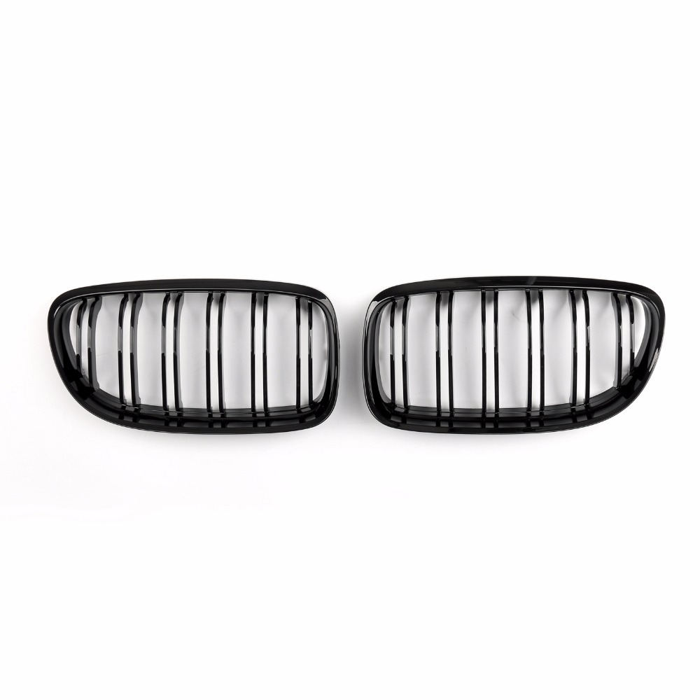 Areyourshop Car Front Kidney Grill Grilles Double Rib For BMW E90/E91 LCI 3 Series 2008-2012 1Pair High Quality Car Parts image
