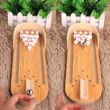 30cm Desktop Bowling Mini Game Set Wooden stress relief creative Family Fun Toy Funny Party interactive toys For Children gifts