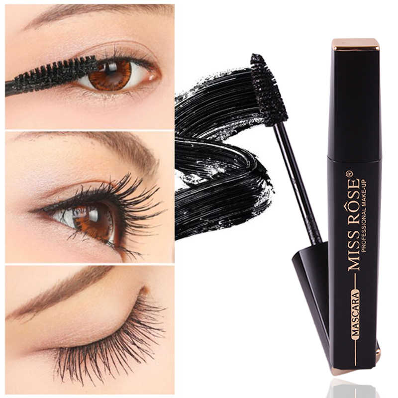 MISS ROSE 1 pc Dikke Mascara Eye Make-Up Fiber Langdurige Mascara Waterproof Curling Wimper Extension Eye Make-Up Cosmetische TSLM2