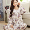 Primavera outono mulheres pijamas define algodão feminino completo manga pijama homewear da senhora pijama jovem meninas sleepwear salão