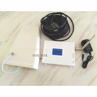 VOTK 2G 3G 4G tri band SIGNAL booster WCDMA 3G signal repeater 4g 1800mhz cell phone signal amplifier full set