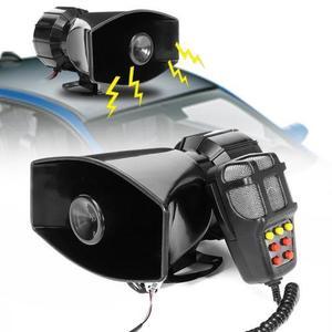 Image 2 - Dragonpad 100W 7 ses araba elektronik uyarı Siren motosiklet alarmı İtfaiyeciler ambulans hoparlör MIC ile hava Loud araba kornası