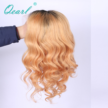 Medium Cap Full Lace Wigs Remy Brazilian Hair Swiss Lace Straight Ombre Blonde  150% Virgin Human Hair Full Lace Wigs Baby Hair