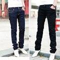Hombres vaqueros lápiz pantalones casuales con estilo diseñado Straight Slim Fit pantalones 6475