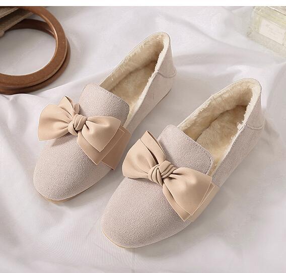 Guisantes Coreana La Versión Salvaje Conejo footed 2 Plano 2019 De 1 Con Nuevo Fondo Zapatos Piel Mujer Terciopelo qXYntwS